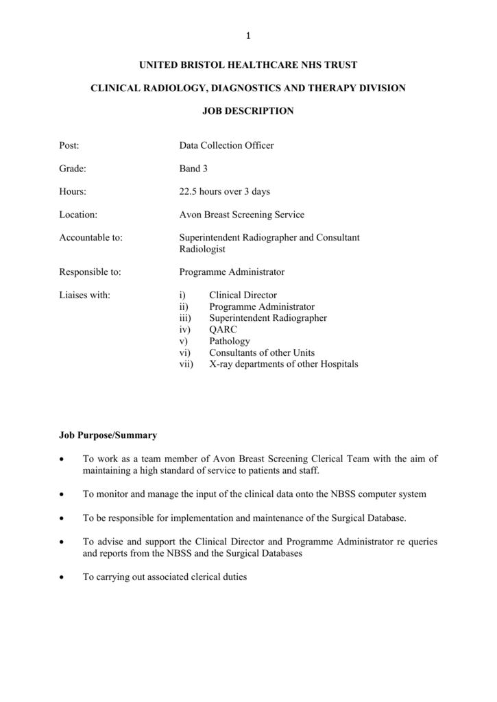 Job descriptions - University Hospitals Bristol NHS
