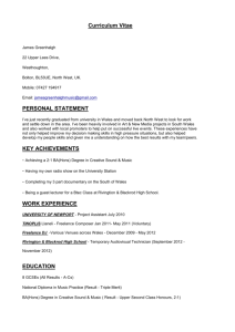 Curriculum Vitae James Greenhalgh 22 Upper Lees Drive
