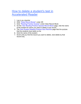 How to delete a student`s test in Accelerated Reader