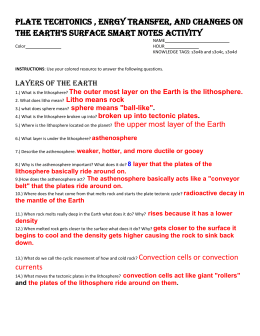 adv plate tectonics essay formative assess plate tectonics activity key