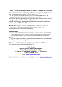 Faculty Positions in Cultural Creation and Bio