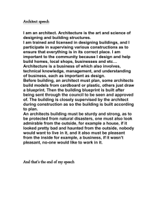 Architect speech