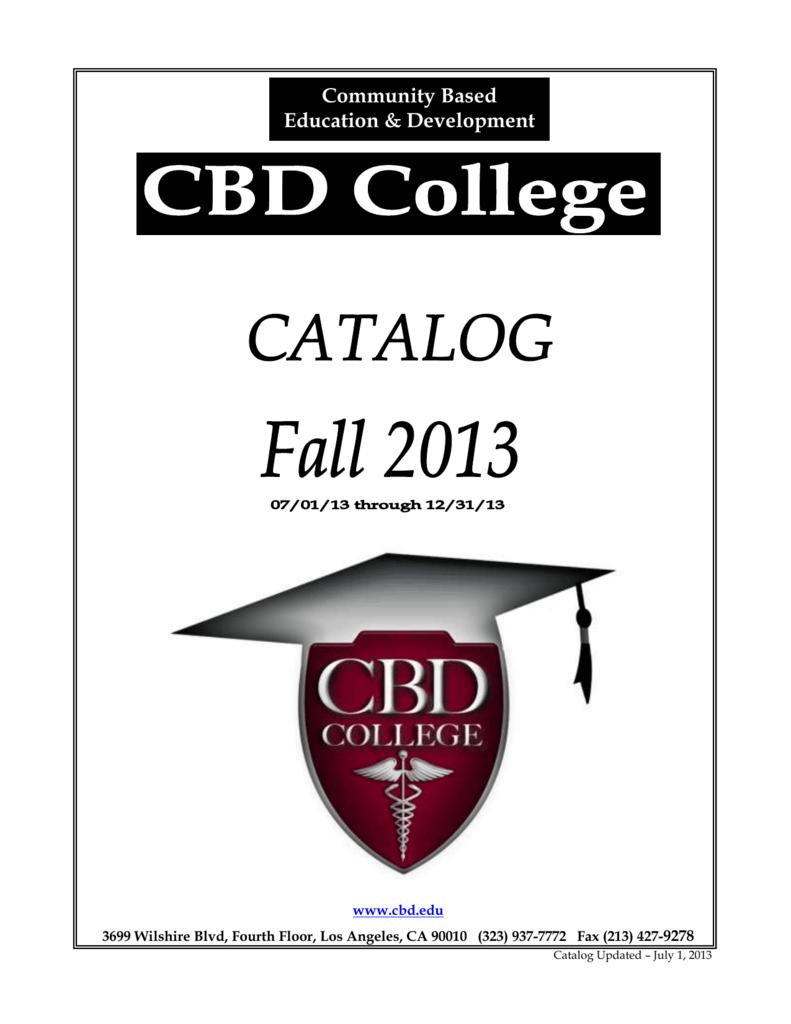 CBD Catalog - CBD College