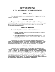 Chapter Constitution - American Statistical Association