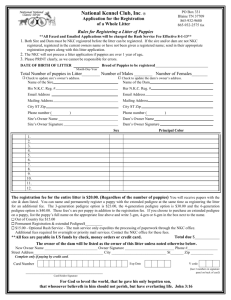 Application To Register Whole Litter