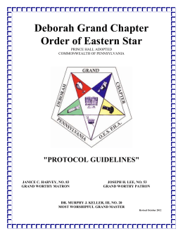 Deborah Grand Chapter Order of Eastern Star PRINCE HALL