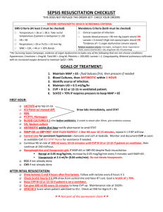 SEPSIS RESUSCITATION NURSES WORKSHEET