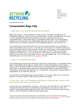 Compostable Bags Law FAQ - Solid Waste Management