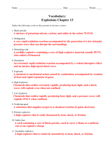 Explosives Study Guide Answers