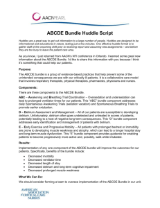 ABCDE Bundle Huddle Script - American Association of Critical