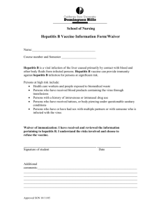 Hepatitis B Vaccine Information Form