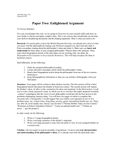 Paper Two: Enlightened Argument