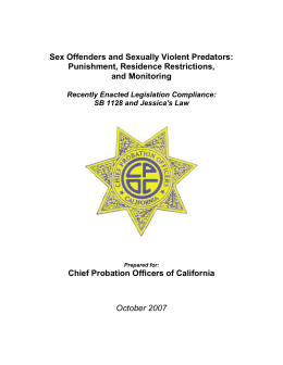 Sex Offender White Paper - Chief Probation Officers of California