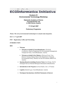Environmental Thesaurus/Terminology Workshop
