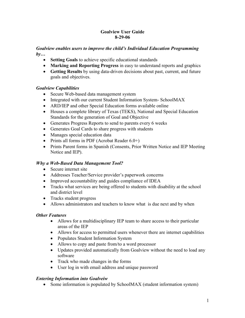 Providing Iep May Not Suffice If >> Ard Iep Goalview Checklist