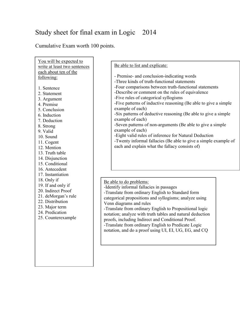 Idea For Final Exam In Logic Venn Diagram Examples