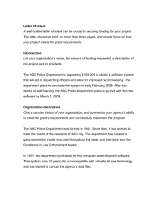 Letter of Intent - Spillman Technologies, Inc.