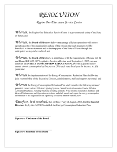 Region One Board Resolution