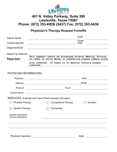 Physician Therapy Request Form