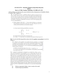 IE 523 – Probabilistic Analysis