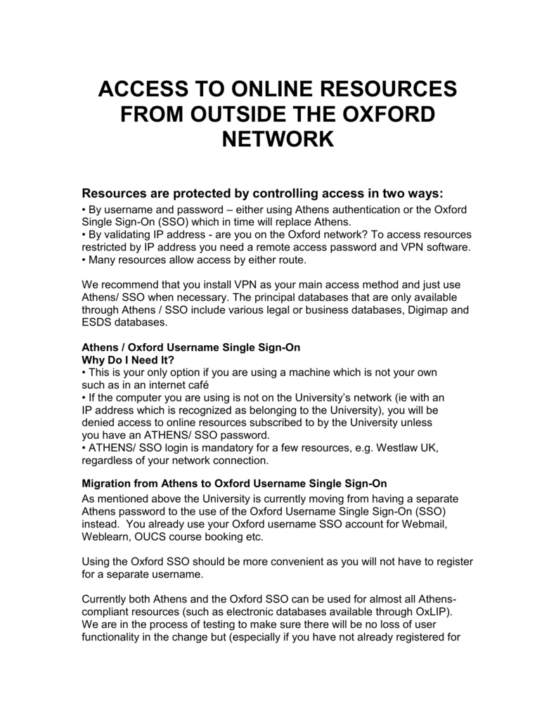 Guide - University of Oxford