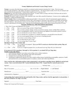 Pertussis Vaccine Acceptance/Declination Form