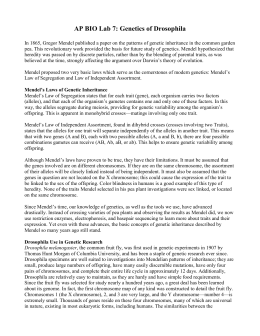 ap biology lab 7 genetics of drosophila lab report