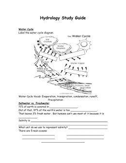 Hydrology Study Guide - Fulton County Schools