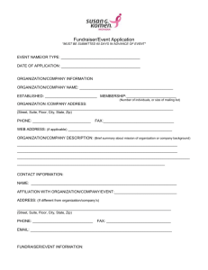Third Party Event Application