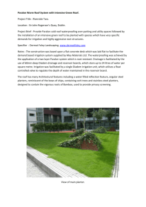 Case Study - Green Roof Intensive Roof