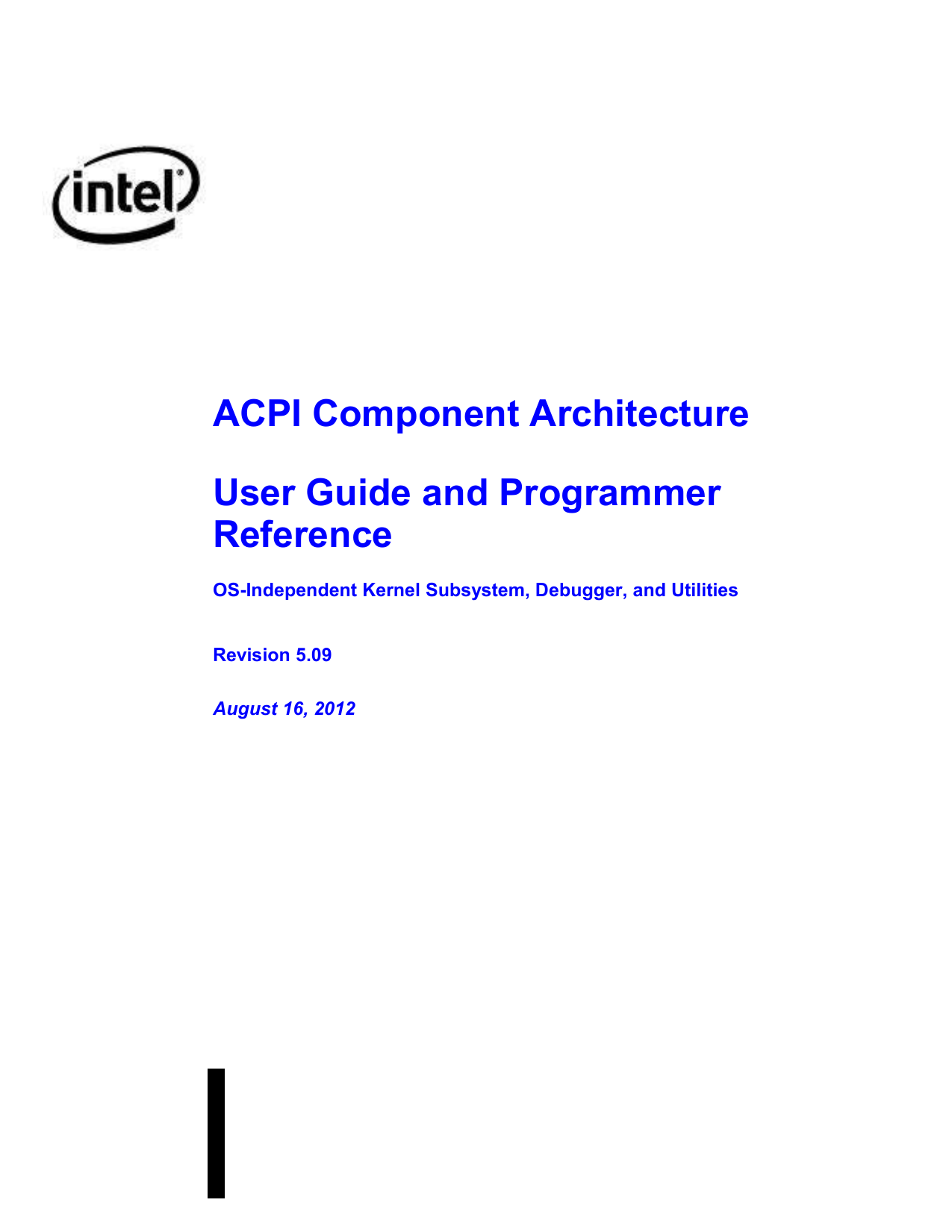 ACPI Component Architecture Programmer Reference