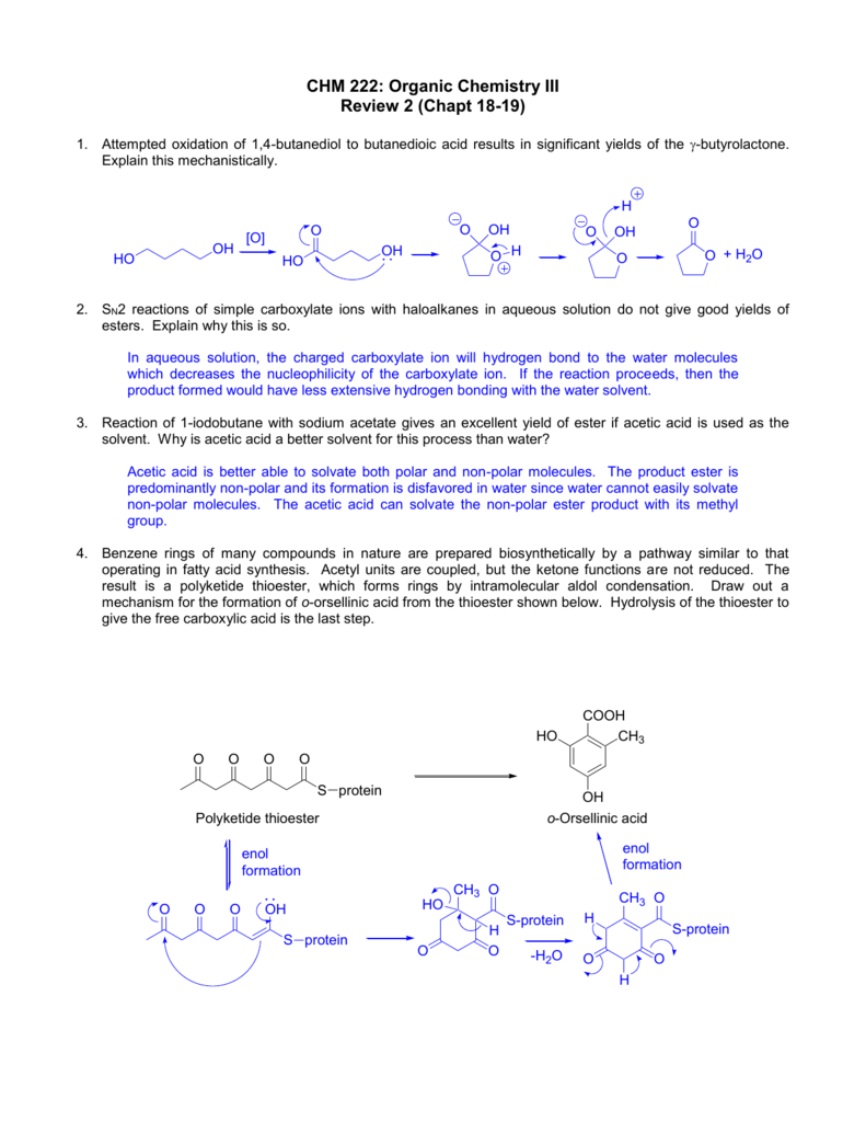 CHM 222: Organic Chemistry III