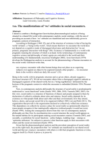 The Manifestations of We-Attitudes in Social Encounters