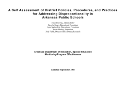 Identifying and Analyzing District Data on