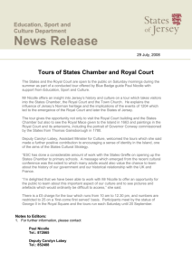 Tours of States Chamber and Royal Court