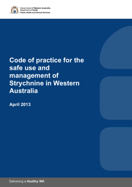 Code of practice for the safe use and management of