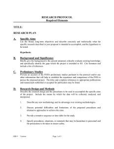 Sample Research Protocol - Office of Human Research