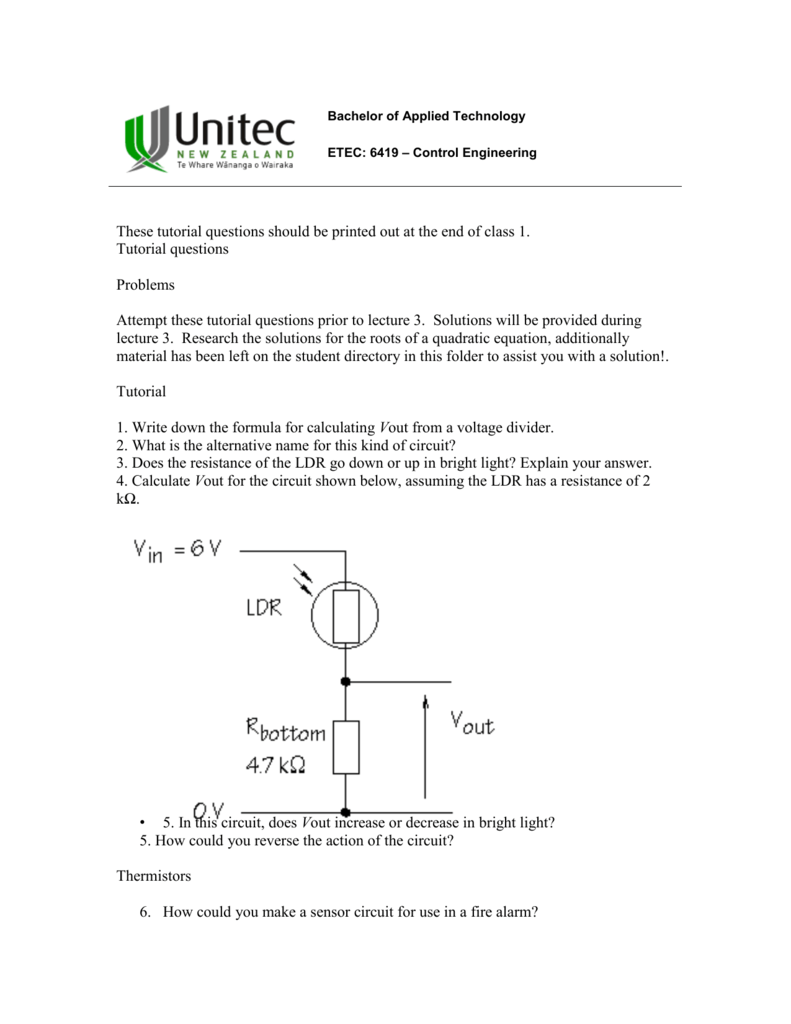 Tutoria3 Sensor Circuit For Resistance Temperature Detector Sensorcircuit