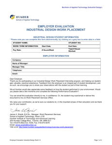Industrial Design - Employer Evaluation