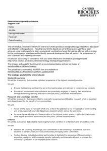 Support staff PDR form - Oxford Brookes University