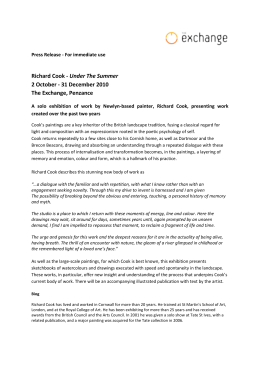 Richard Cook press release