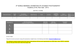 aplication form - World Biennial of Student Photography