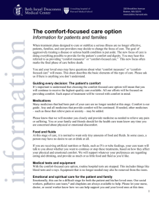 The Comfort Focused Care Option