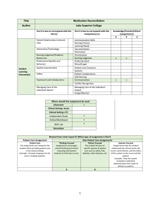 Medication Reconciliation UPDATED 2014