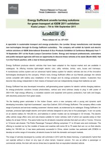 Energy Sufficient Press release English version