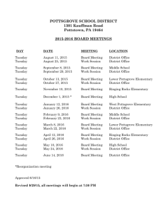 Revised Board Meeting Calendar 2015-2016