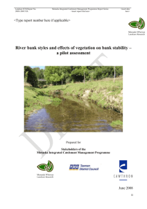Cawthron Report No - Integrated Catchment Management for the