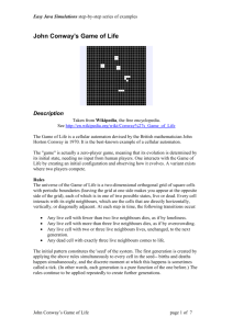 John Conway`s Game Of Life
