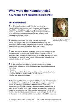 an introduction to the neanderthals Introduction: a speculative research paper examining current evidence available on neanderthal man with comparison to references in early manuscripts of a nephilim.