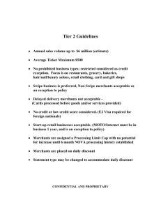 Tier 2 Guidelines - Strategic Merchant Solutions